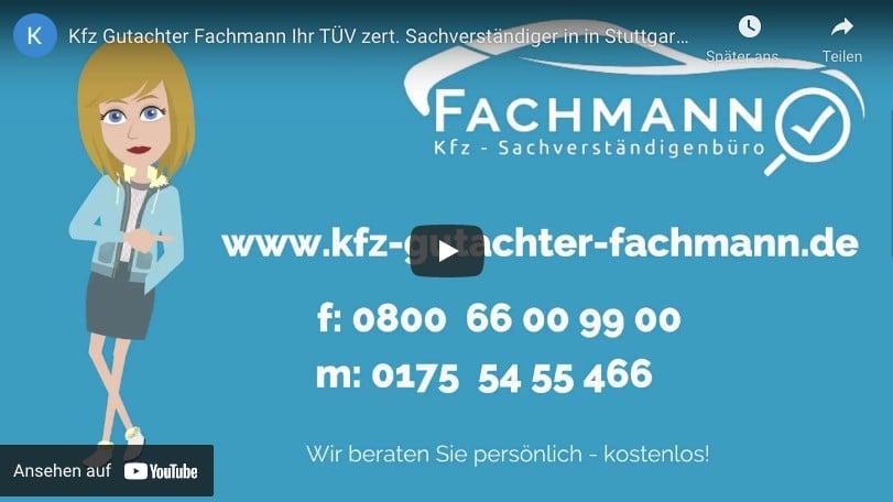 YouTube Video Kfz-Gutachter Fachmann