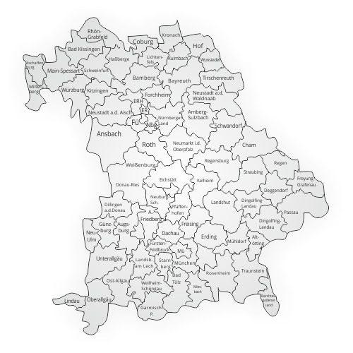 Bayern-Kfz-Gutachter und Gutachten in München, Nürnberg, Augsburg und Erlangen